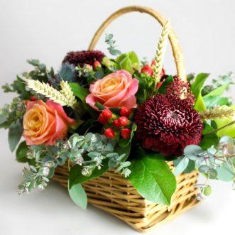 Корзина цветов «Эмили»